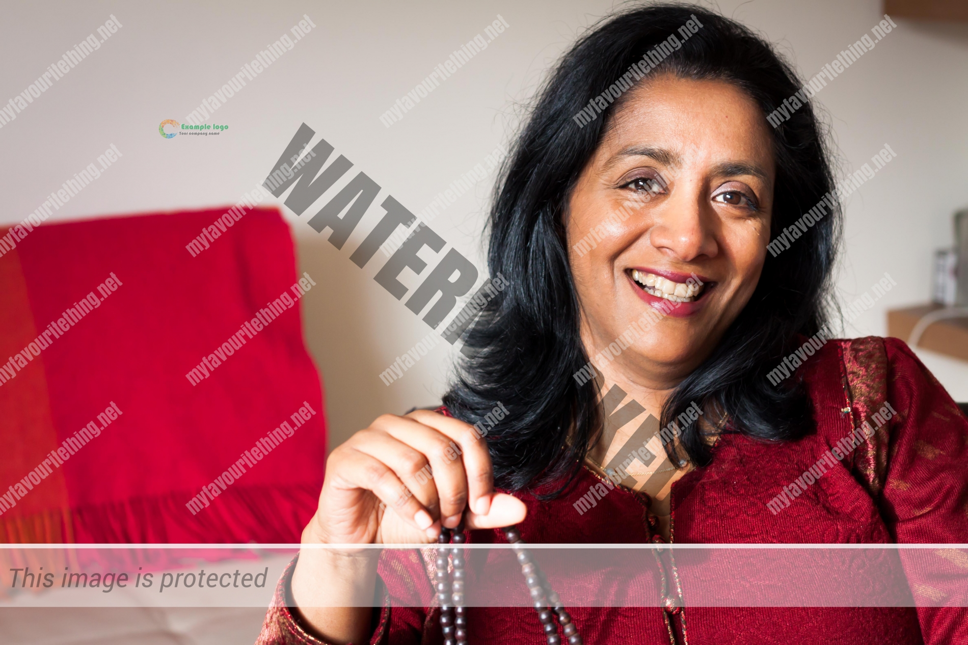 Author Sunny Singh with Grandmother's prayer beads
