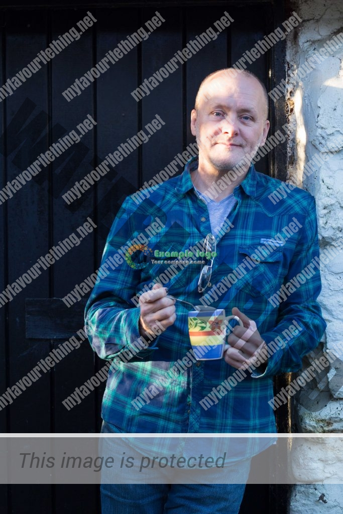 Raymie Watson with his favourite spoon and a mug